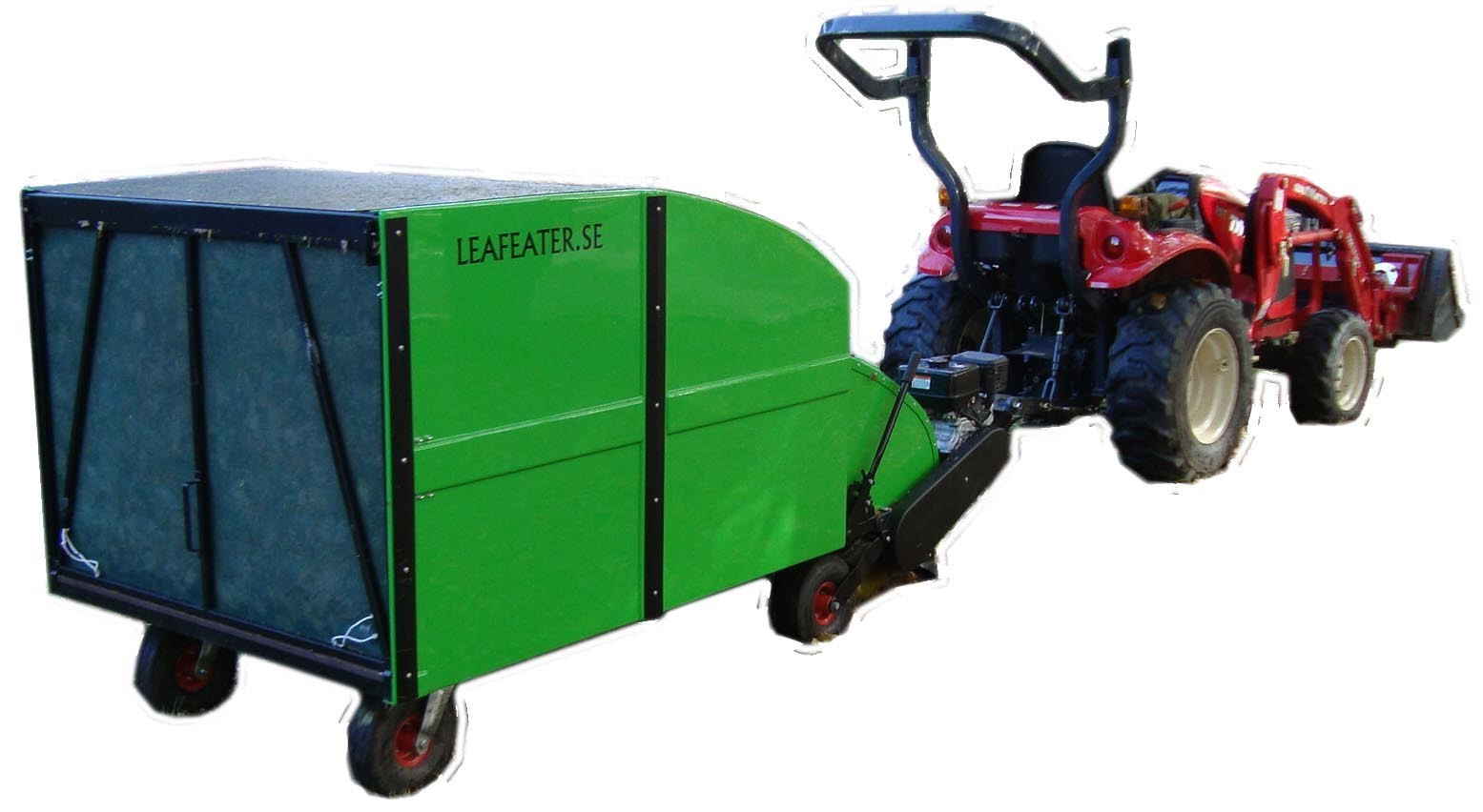 Towed machine for cleaning leaves and grass Leafeater